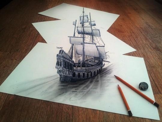 3д фото рисунки на бумаге