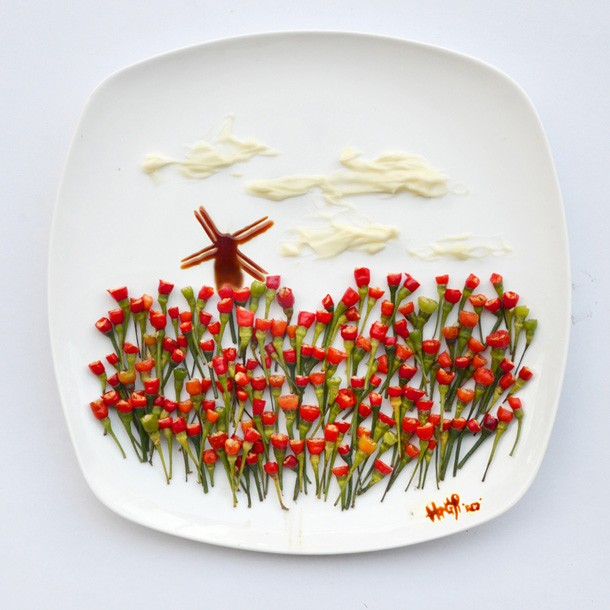 Фуд-арт Хонг Йи. Creativity With Food by Hong Yi
