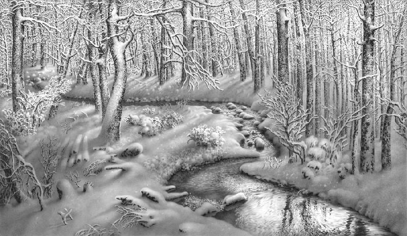 Картинки нарисованные карандашом природа