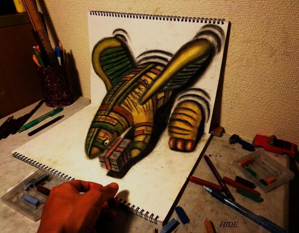 3D рисунки Нагаи Хидеюки
