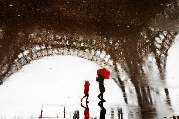 Дождь в Париже - фотография Кристофера Жакро