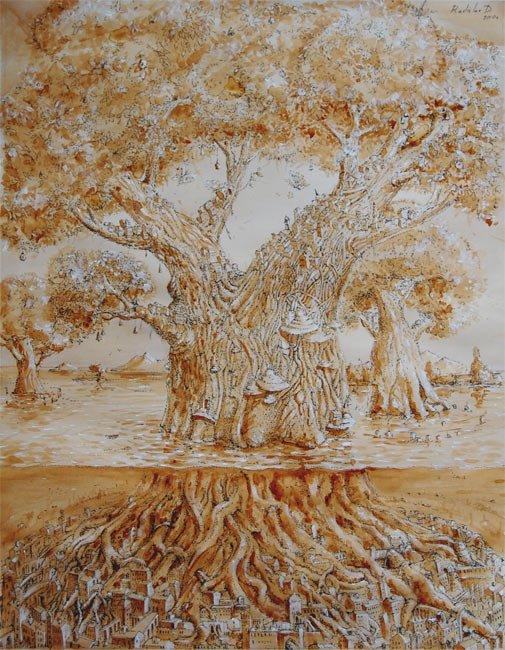 Картины из кофе. Киевский художник Радислав Дзюба