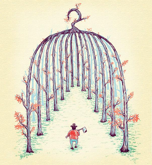 Иллюзорная иллюстрация Танг Яу Хунга №7