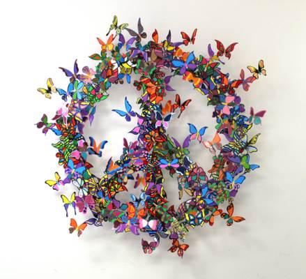 Красивые бабочки - скульптура Эффект Бабочки