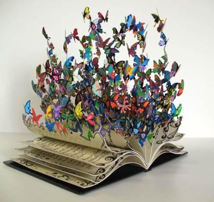 Мир искусства - скульптура из металла Книга Жизни