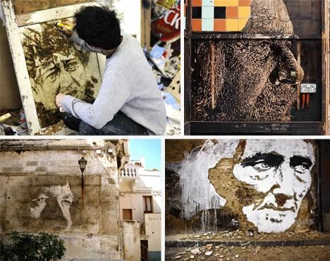 Уличное искусство Вхилса - в процессе работы