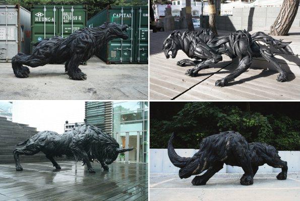 Необычные скульптуры Йонг Хо Джи