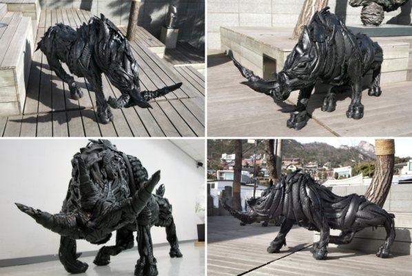 Необычные скульптуры животных от Yong Ho Ji