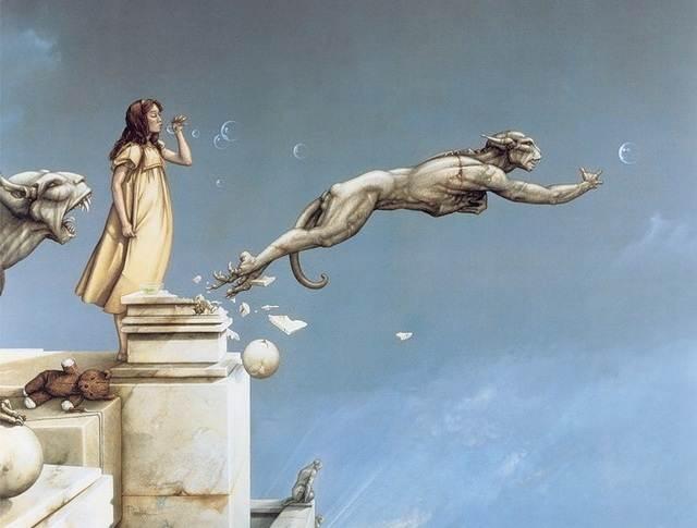 Магический реализм - работа Гаргульи Майкла Паркеса