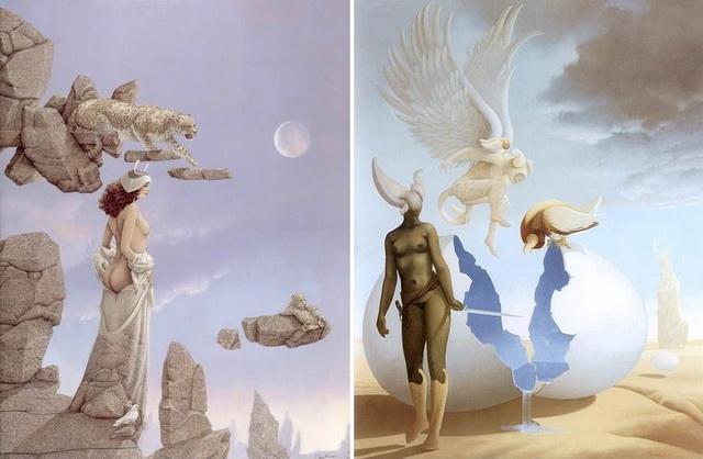 Магический реализм - работы Голубка в скале, Ночная вода