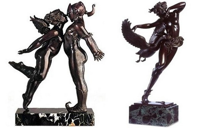 Скульптуры Майкла Паркеса - Поцелуй, Ночной полет