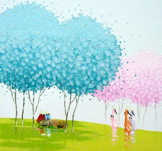 Деревья молодой вьетнамской художницы
