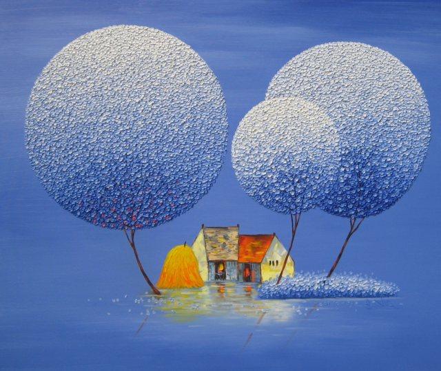 Живопись мастихином вьетнамской художницы Phan Thu Trang