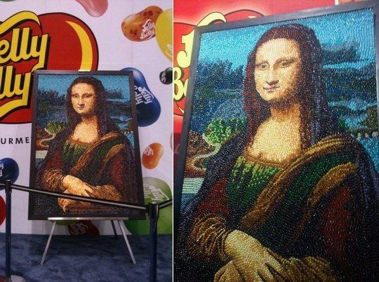 Кристен Камингс - картина Джоконды из мармеладок