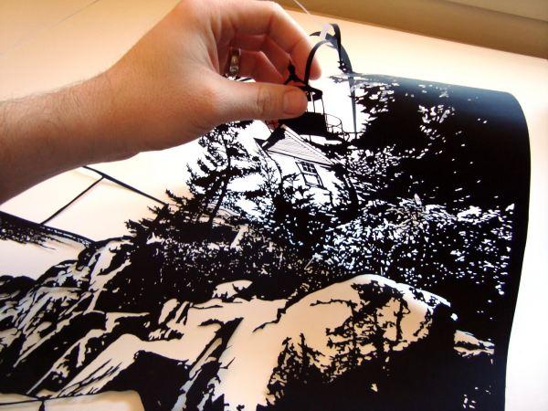 Бумажный арт - работа Джо Бегли, papercut