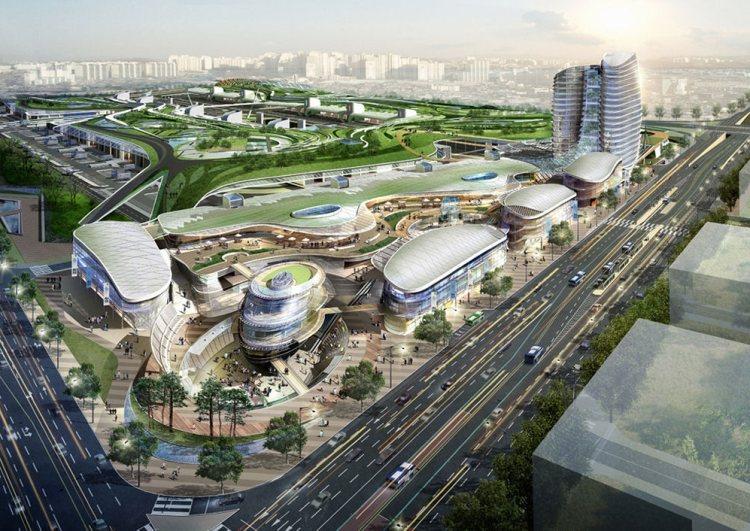 Южнокорейский проект рыночной крыши.