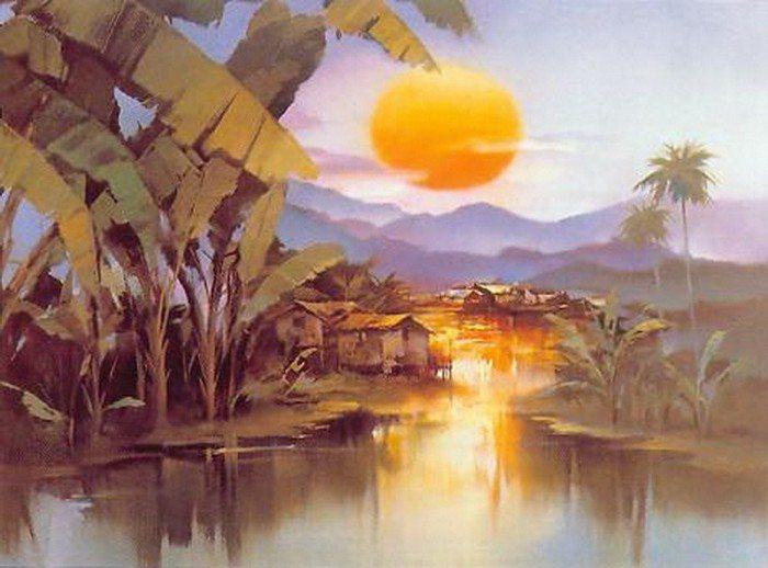 Китайский художник-импрессионист Hong Leung.