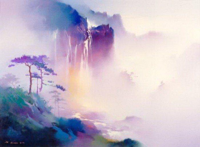 Пейзажи маслом Hong Leung.