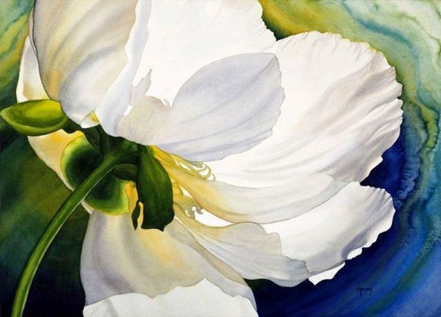 Рисование цветов акварелью Marney Ward