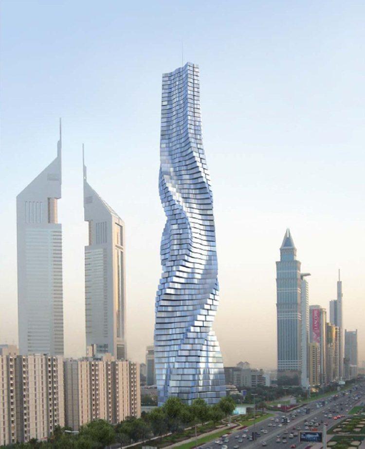 Вращающаяся башня (Дубаи, ОАЭ).