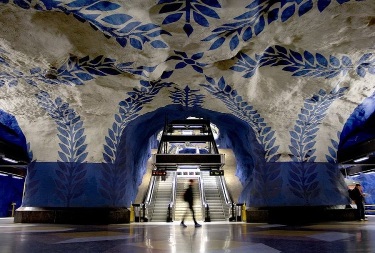 Метрополитен Стокгольма.