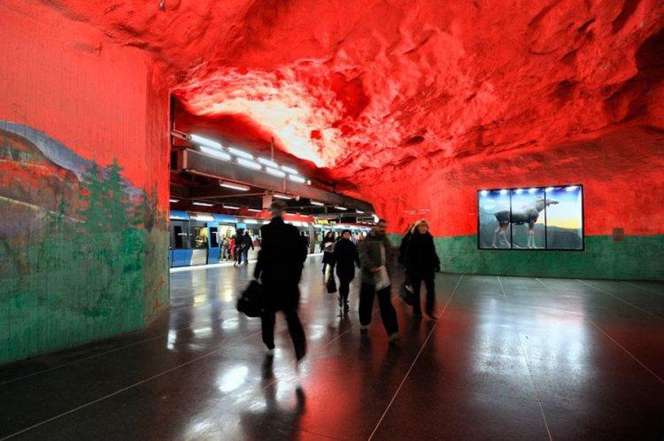 Stockholms tunnelbana - шведское метро