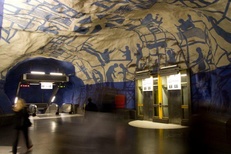 Одна из станций шведского метро.