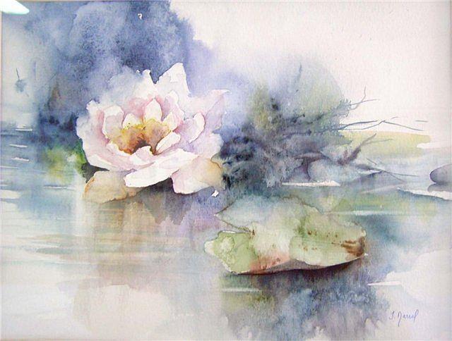 Цветок акварелью Fabio Cembranelli