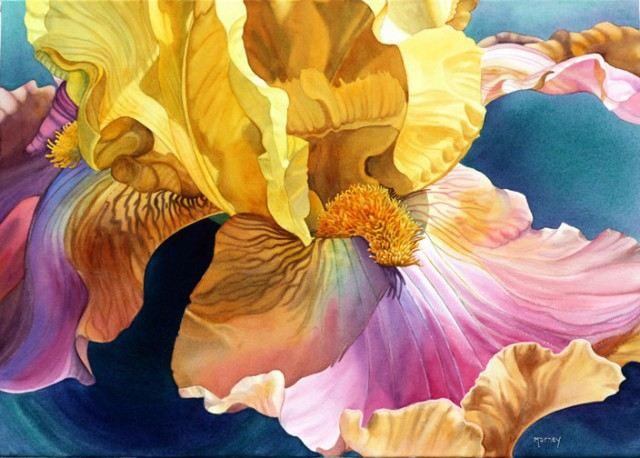 Цветок акварелью Marney Ward