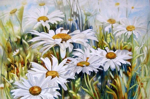Цветы акварелью канадской художницы Marney Ward