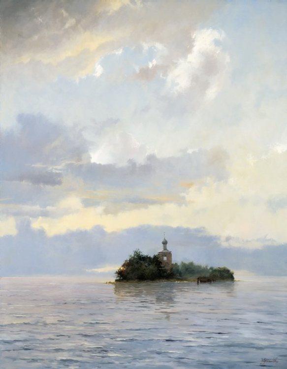 Пейзажи заслуженного русского мастера живописи.