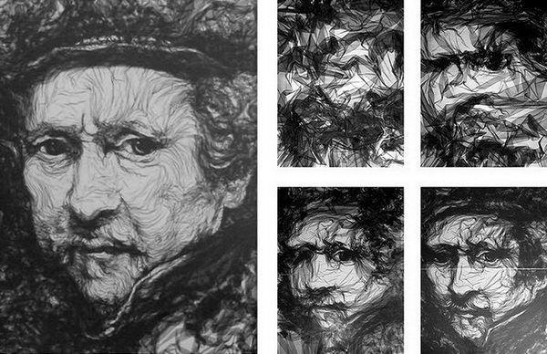 Первый портрет из тюля Бенджамина Шайна