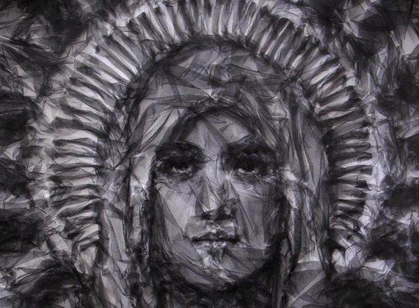 Портрет из тюля на заказ Givenchy