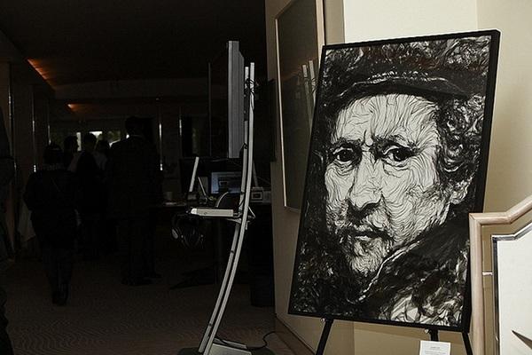 Рембрандт, портрет из тюля, художник Benjamin Shine
