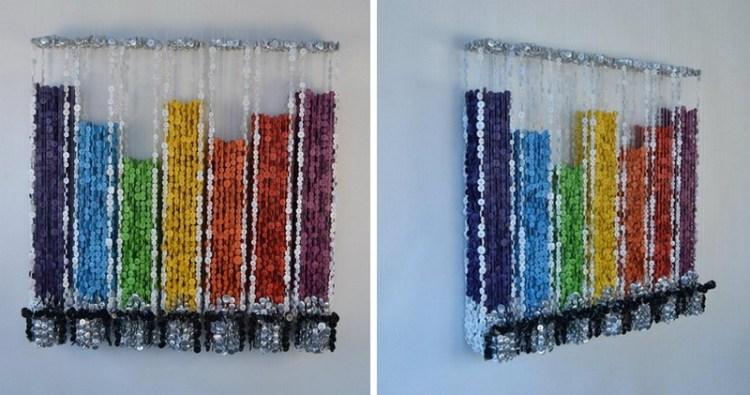 Яркая инсталляция из пуговиц в исполнении Augusto Esquivel