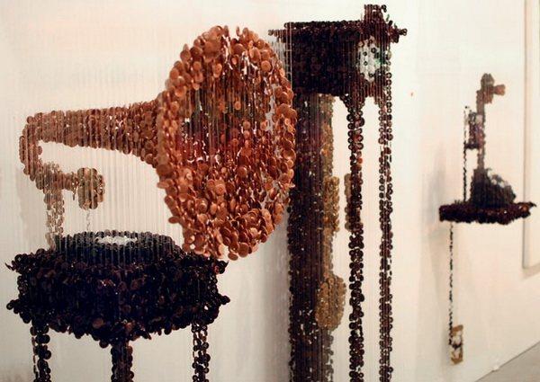 Пуговицы в инсталляциях (и не только) Augusto Esquivel