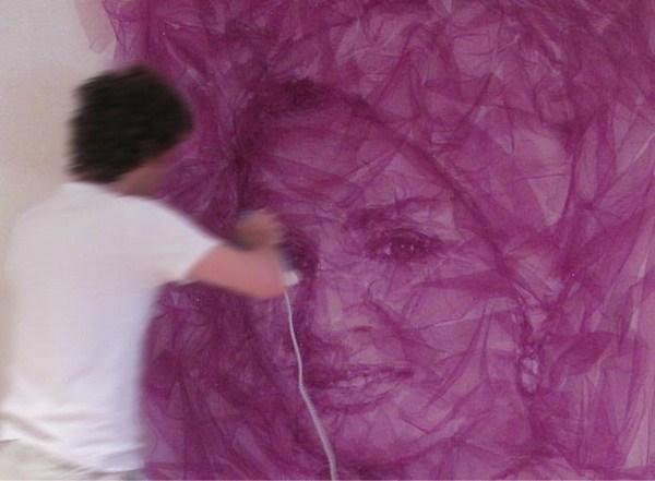 Восточная красавица Шейха Моза, портрет из тюли