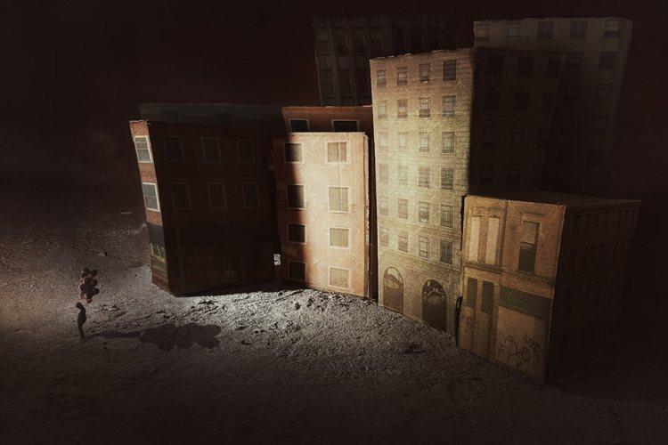 Цифровые драматические коллажи от итальянского художника.