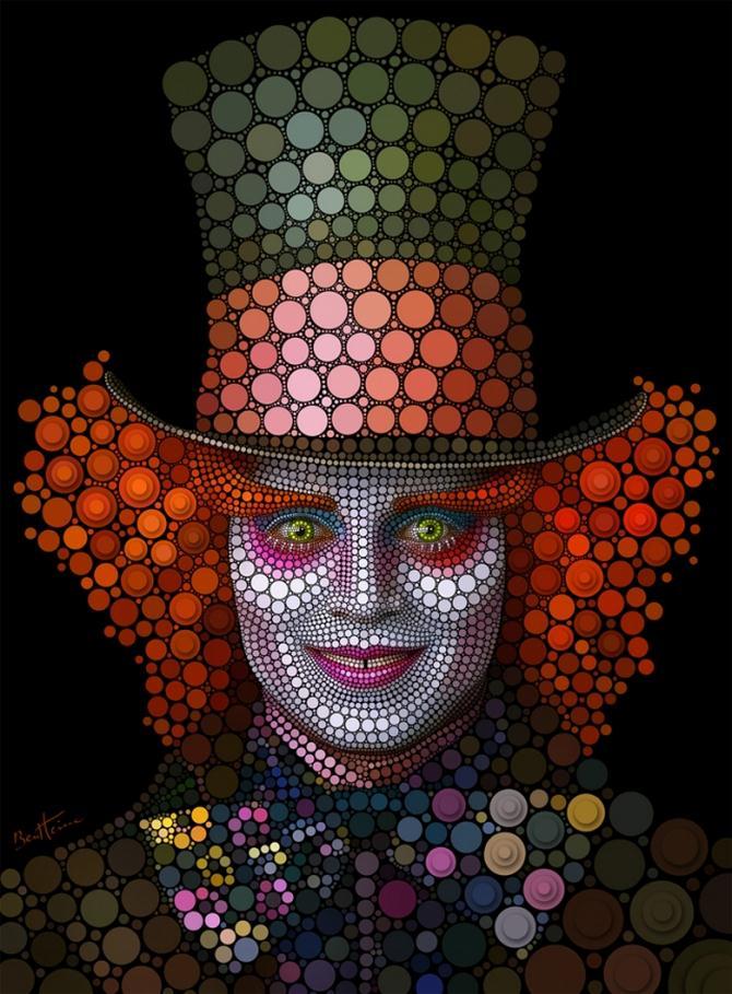 Рисунки из кругов от графического дизайнера Бена Гейне.