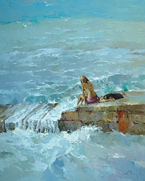 Живопись мастихином от заслуженного российского художника.