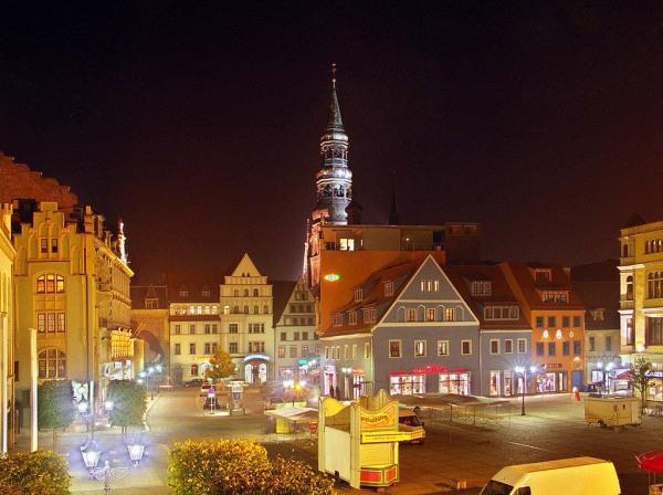 Ночной город Цвиккау, Германия