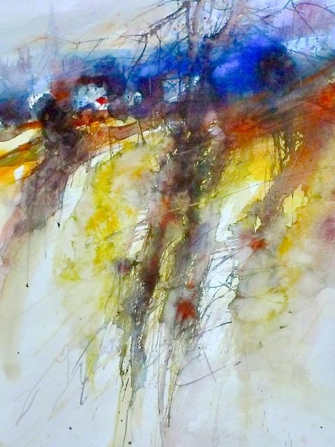Акварельные пейзажи французского художника Eric Laurent.
