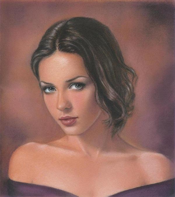 Цветной портрет, сделанный по фотографии