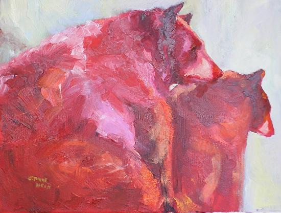 Абстрактные картины современной художницы Carol Hein.