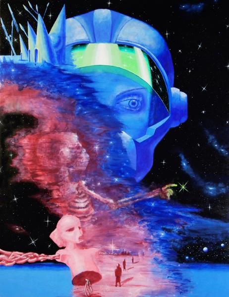 Любимая картина современного художника Мартина Новикова. Акрил, масло.